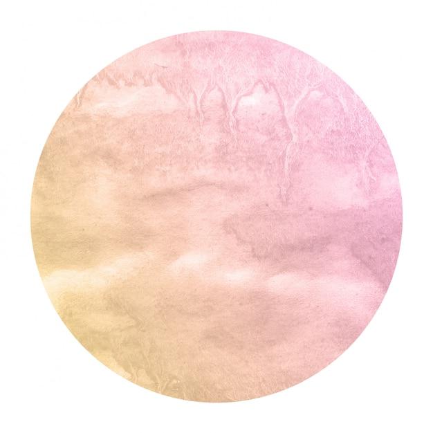 Laranja morna mão desenhada textura de fundo quadro aquarela circular com manchas Foto Premium