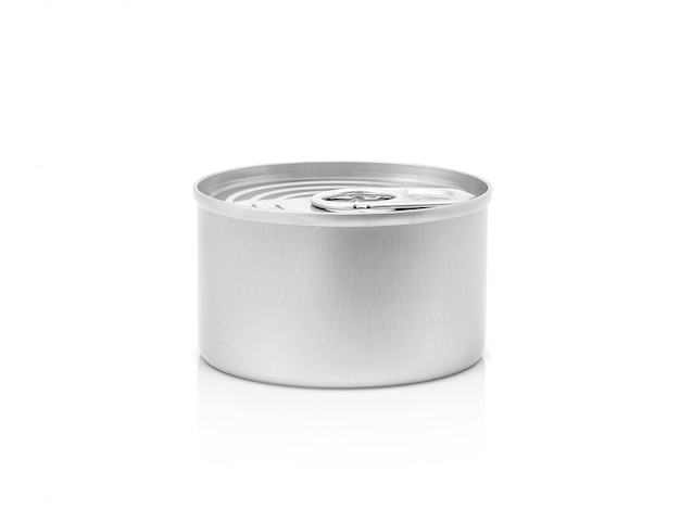 Lata para conservar o produto isolado Foto Premium