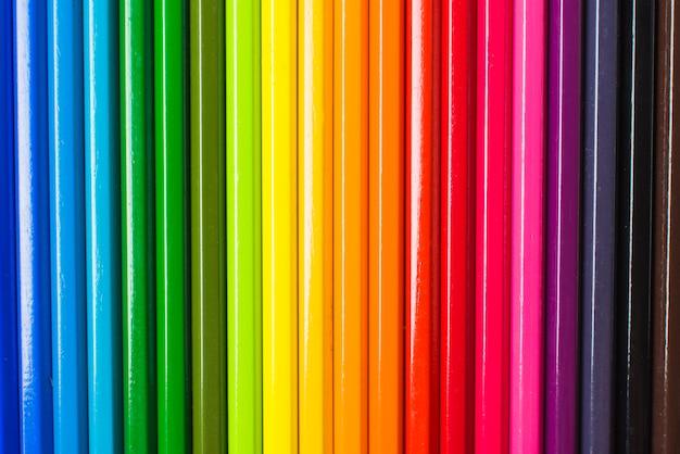 Layout de lápis nas cores lgbt Foto gratuita