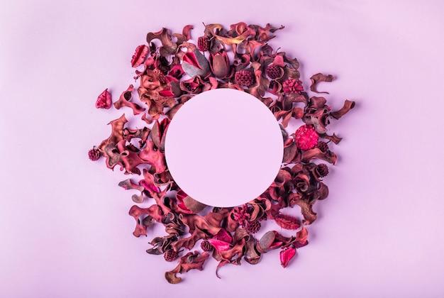 Layout de temporada criativa de folhas e flores Foto Premium