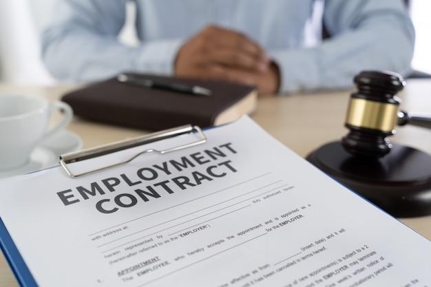 Lei de emprego educação jurídica de emprego Foto Premium