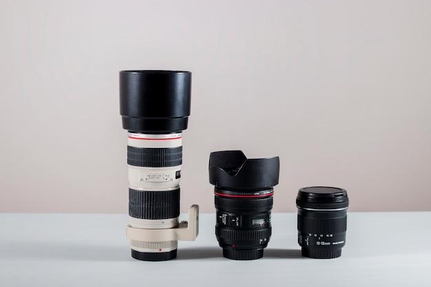 Lentes da câmera profissional Foto Premium