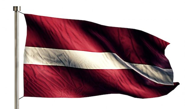 letónia bandeira nacional isolada 3d fundo branco baixar fotos