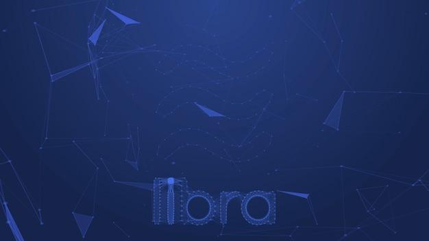 Libra coins concept motion background Foto Premium
