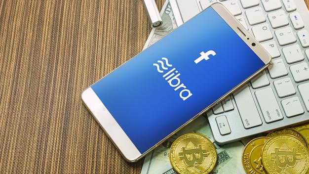 Libra facebook e bitcoin cryptocurrency para libra Foto Premium
