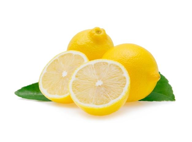 Limão isolado no branco Foto Premium