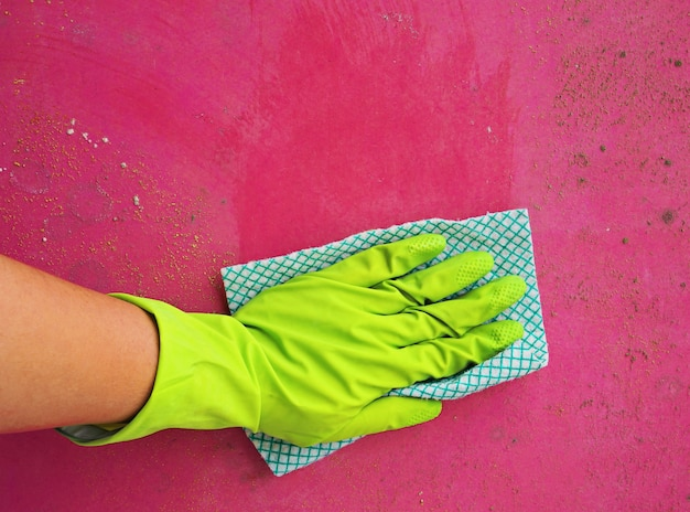 Limpeza do molde da mão da mulher Foto Premium