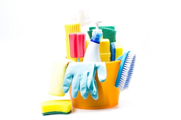Limpeza, equipamento de limpeza Foto gratuita