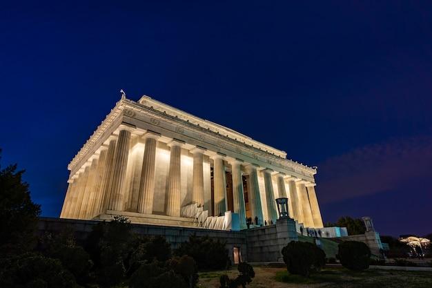 Lincoln memorial em washington dc, eua Foto Premium