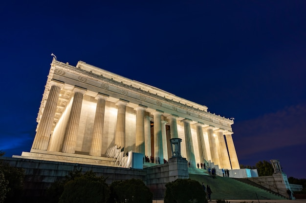 Lincoln memorial em washington dc, eua Foto Premium