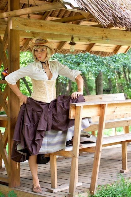 Linda garota americana Foto Premium