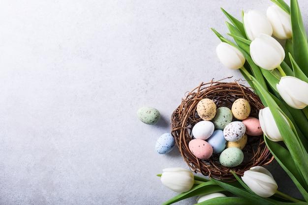 Lindas tulipas brancas Foto Premium