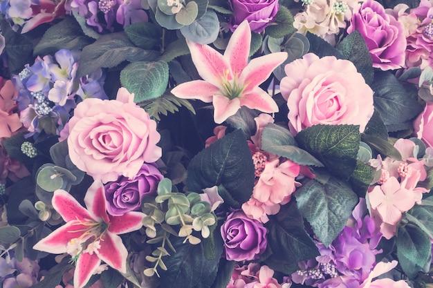 Lindo buquê de flores Foto gratuita