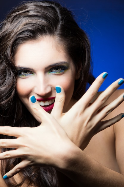 Lindo modelo eyes fundo perfeito Foto gratuita