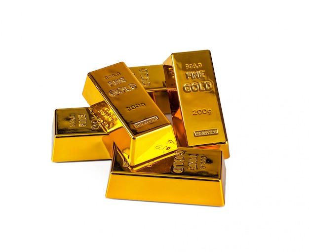 Lingote de ouro Foto Premium