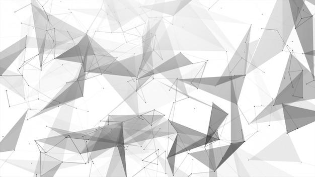 Linha abstrata do conectado Foto Premium