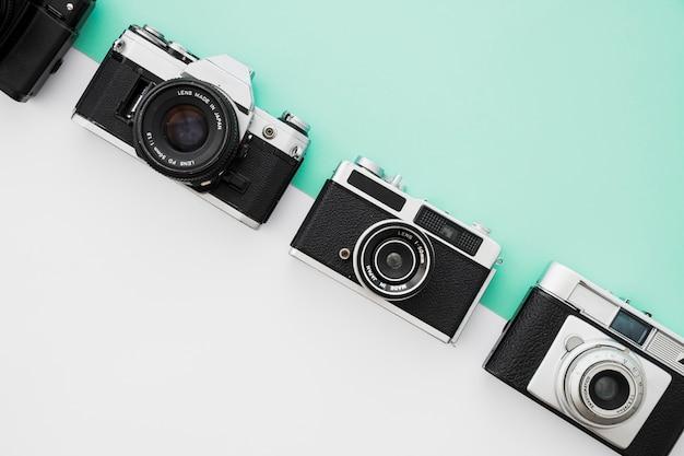 Linha de câmeras retrô Foto gratuita
