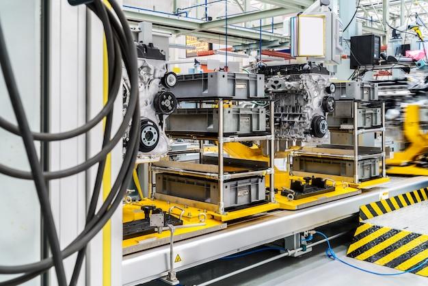 Linha de produção automóvel Foto Premium