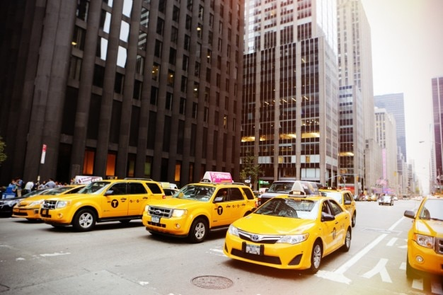 Linha de táxis Foto gratuita
