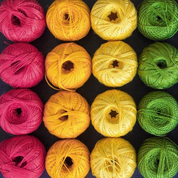 Linhas coloridas para tricô fundo Foto Premium
