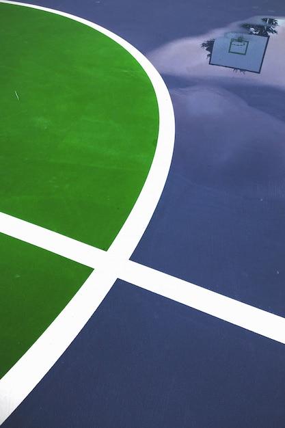 Linhas de quadra de basquete de close-up Foto gratuita