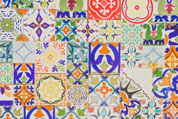 Lisboa textura da parede marroquino florais Foto gratuita