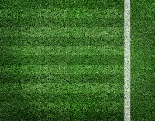 Listra branca no campo de futebol verde da vista superior Foto Premium