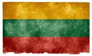Lithuania grunge bandeira vermelha Foto gratuita