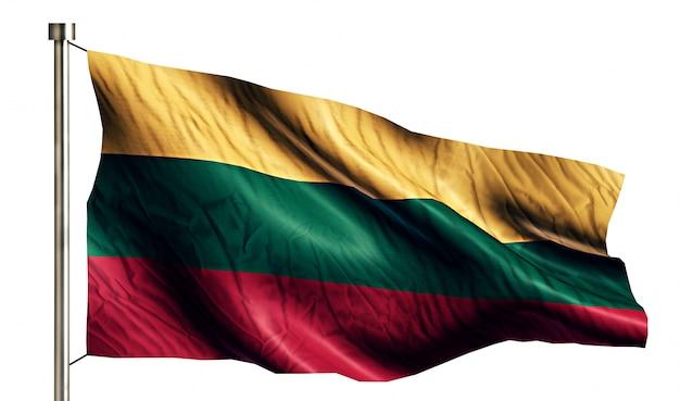 Lituânia bandeira nacional isolada 3d fundo branco Foto gratuita