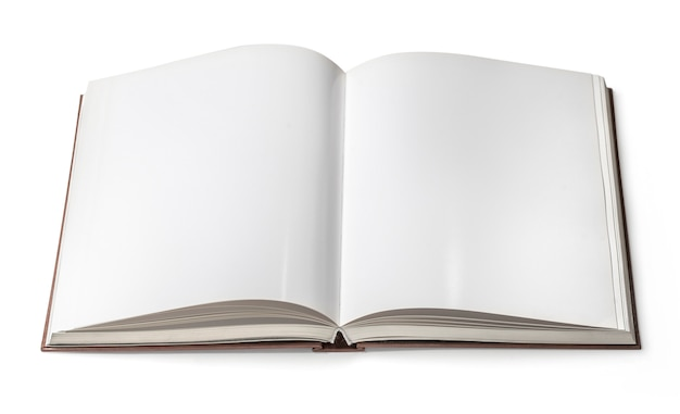 Livro aberto isolado Foto Premium