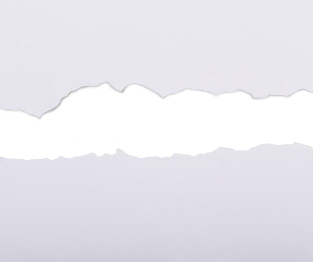 Livro branco dilacerado em dois Foto Premium