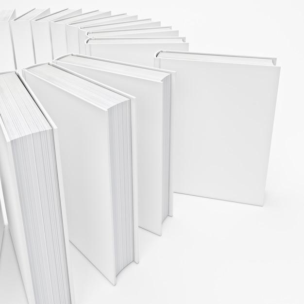 Livros brancos Foto Premium