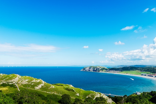 Llandudno sea front em north wales, reino unido Foto Premium