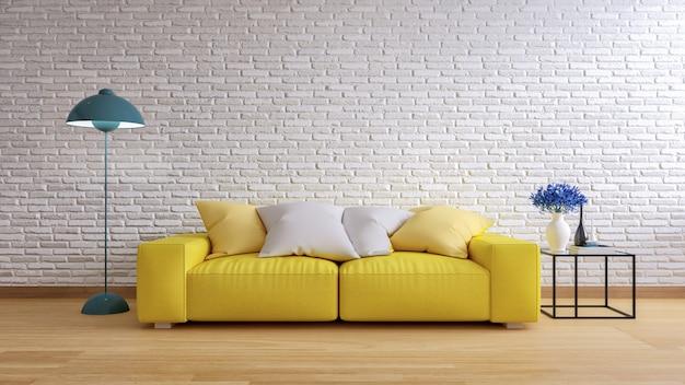 Loft e vintage interior da sala de estar Foto Premium