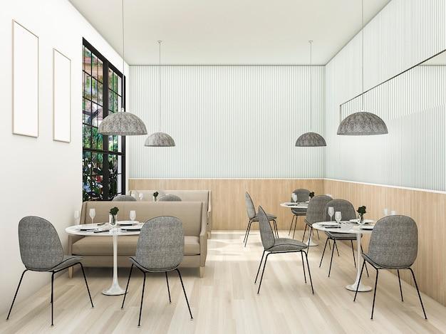 Loja de chá contemporânea vintage de renderização 3d Foto Premium