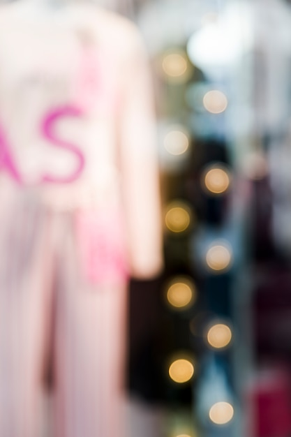 Loja de roupas com efecto turva Foto gratuita
