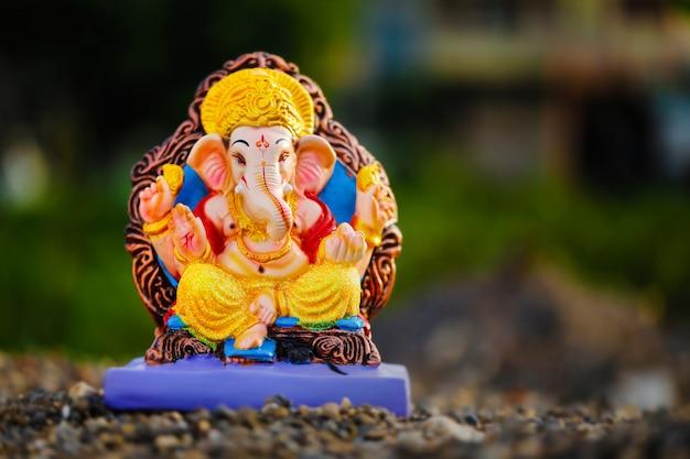 Lord ganesha, festival de ganesh indiano Foto Premium