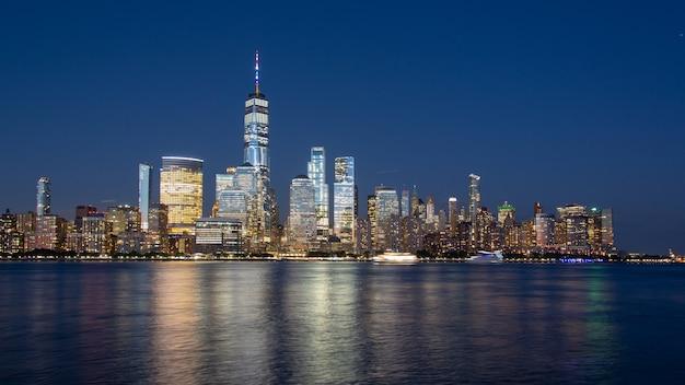 Lower manhattan skyline Foto Premium