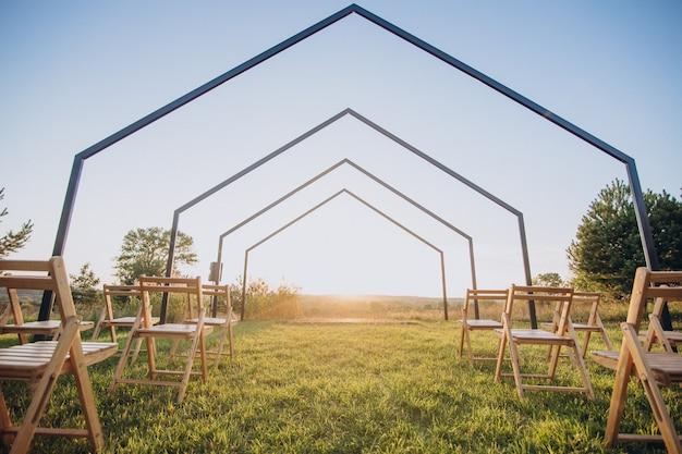 Lugar de decoração simples para noivado Foto gratuita