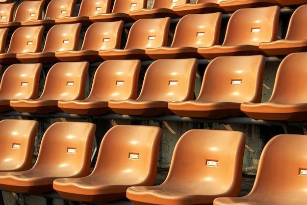 Lugar vazio no estádio para o fã-clube de esporte Foto Premium