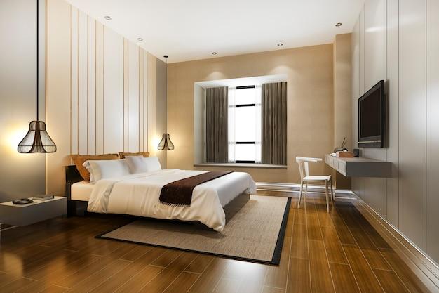 Luxo clássico moderno quarto suite em hotel Foto Premium