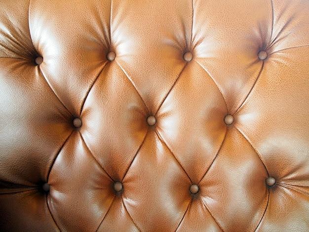 Luxo marrom couro abotoado Foto Premium