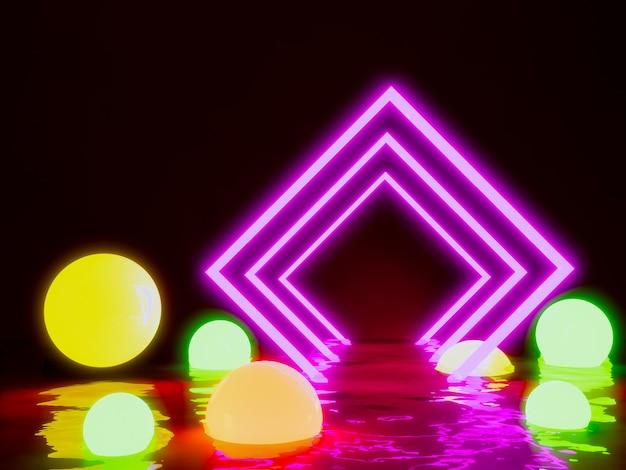 Luz brilhante retângulo Foto Premium