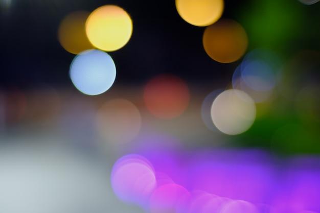 Luz da noite turva para fundos Foto Premium