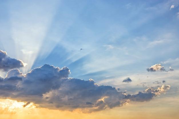 Luz de linha de feixe de sol Foto Premium