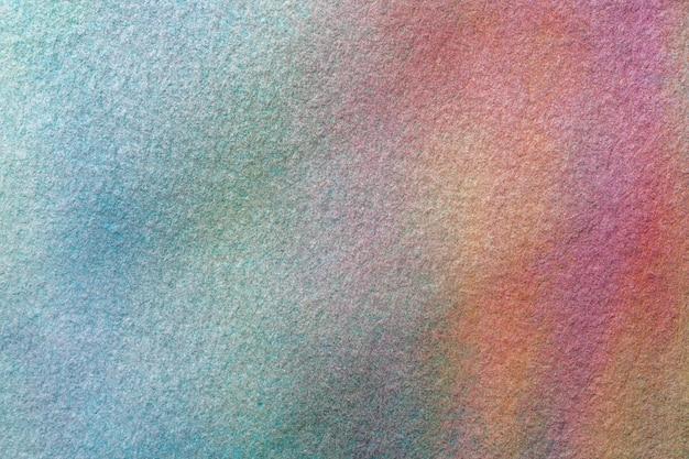 Luz do fundo da arte abstrato - cores azuis e de turquesa. pintura em aquarela sobre tela. Foto Premium