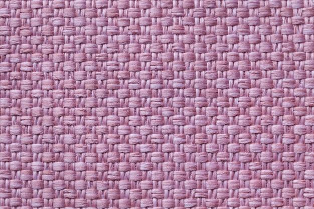 Luz - fundo roxo da matéria têxtil com teste padrão quadriculado, close up. estrutura da macro de tecido. Foto Premium