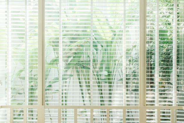 Luz solar veneziana marrom branco interior Foto gratuita