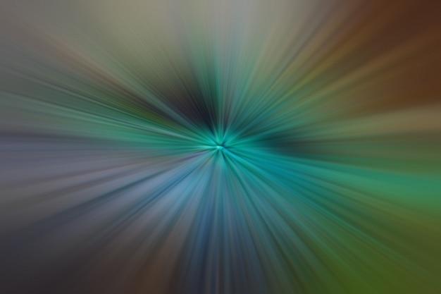 Luz verde e marrom partículas e linhas brilhantes. fundo abstrato bonito raios Foto Premium
