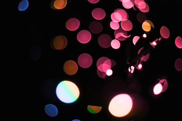 Luzes abstratas de festão colorido Foto gratuita